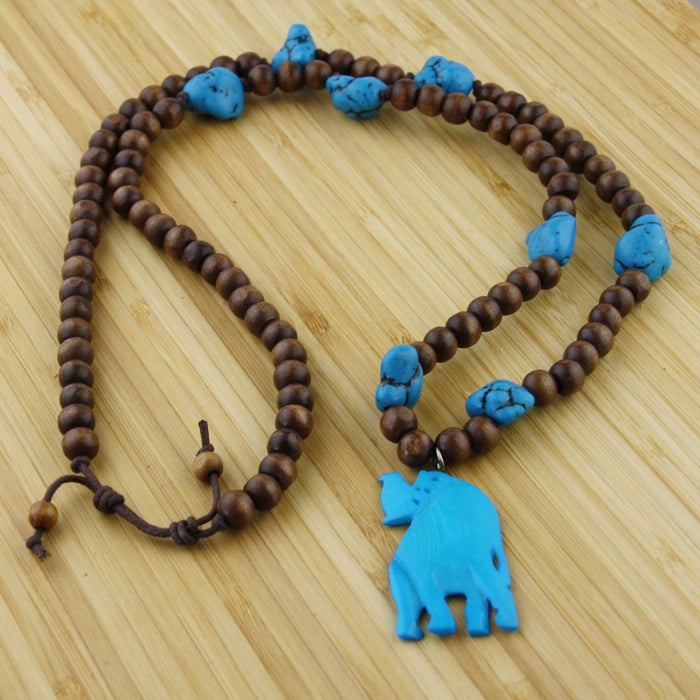 Grote ketting Big Elephant Turquoise