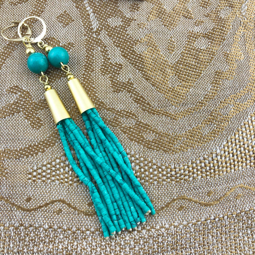 Oorbellen Tassel Sea Green