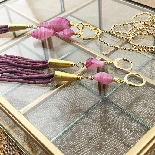Set Tassel Purple