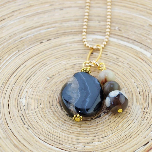 Lange ketting Piedra Grande: Brown