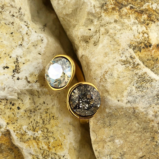 Ring Swarovski Duo mix & Match Goud