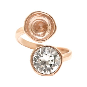Ring Swarovski Duo mix & Match Rosé goud