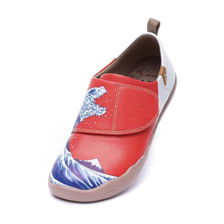 UIN Footwear Kid -Wavy Monster- kids Art Painted Fashion Shoes Canvas loafers