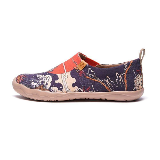 UIN Footwear Men -Creature- Men Art Painted Canvas Fashion Loafers Canvas loafers