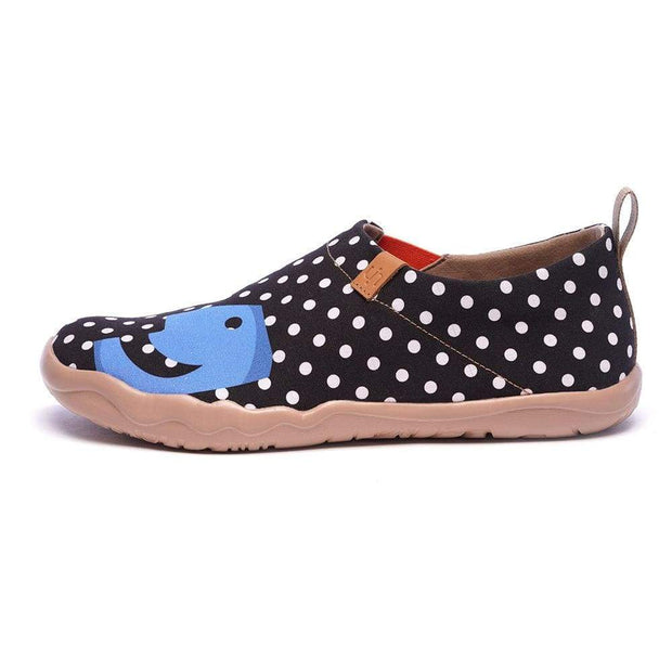 UIN Footwear Men Hola Male Dot Painted Flats Canvas loafers