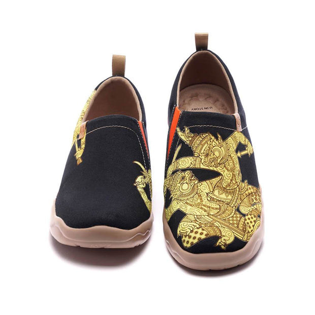 UIN Footwear Men Khon Mask Canvas loafers