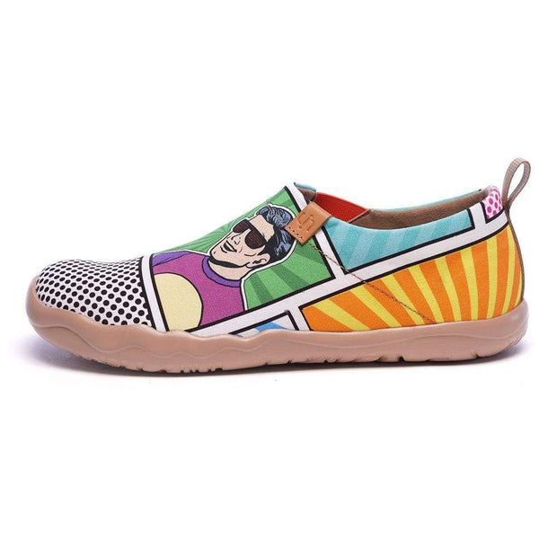 UIN Footwear Men Pop Art Men Canvas Slip-ons Canvas loafers