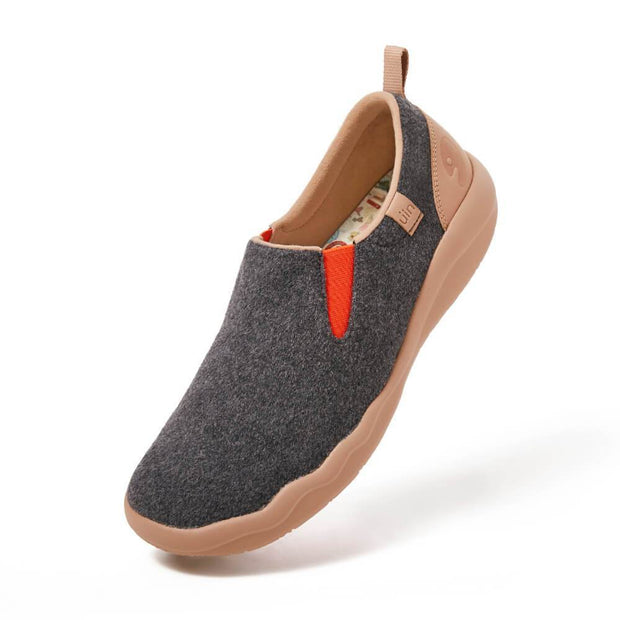 UIN Footwear Men (Pre-sale) Cuenca Deep Grey Wool Men Canvas loafers