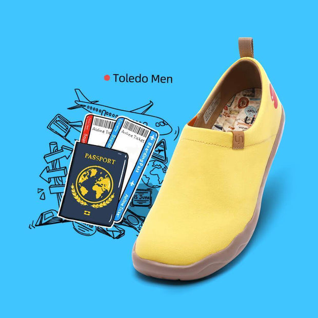 UIN Footwear Men Toledo Yellow Canvas loafers