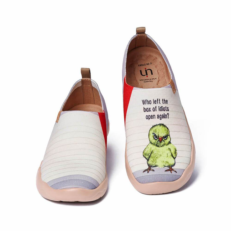 UIN Footwear Women Angry Chicken Canvas loafers