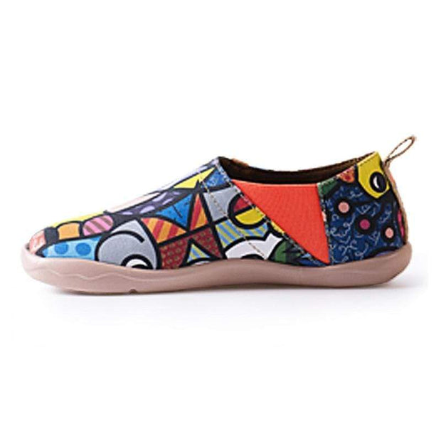 UIN Footwear Women Charming Cat Canvas loafers