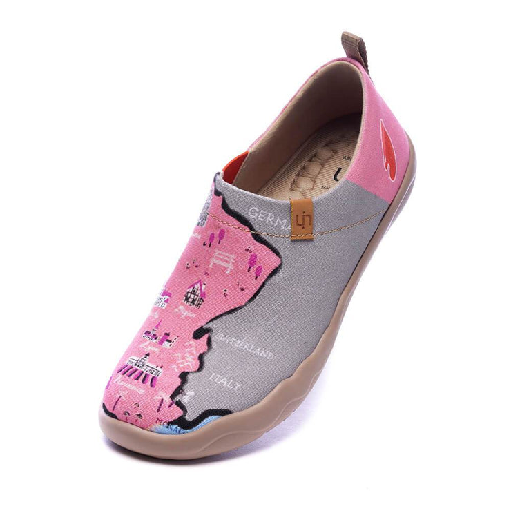 UIN Footwear Women Croissant Paths II Canvas loafers