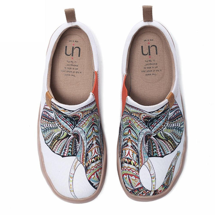 UIN Footwear Women Elephant Exotic Canvas Slip-ons Canvas loafers