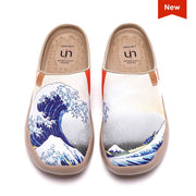 UIN Footwear Women Great Wave off Kanagawa Slipper Canvas loafers