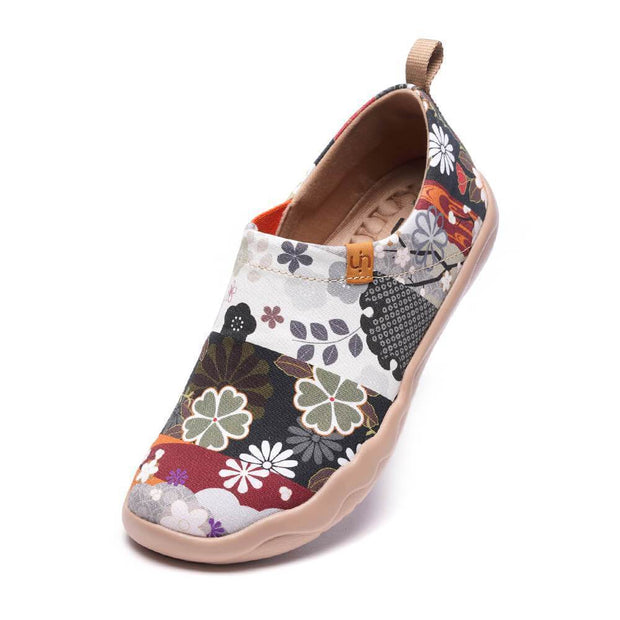 UIN Footwear Women -Hana- Art Painted Women Slip-on Loafers Canvas loafers