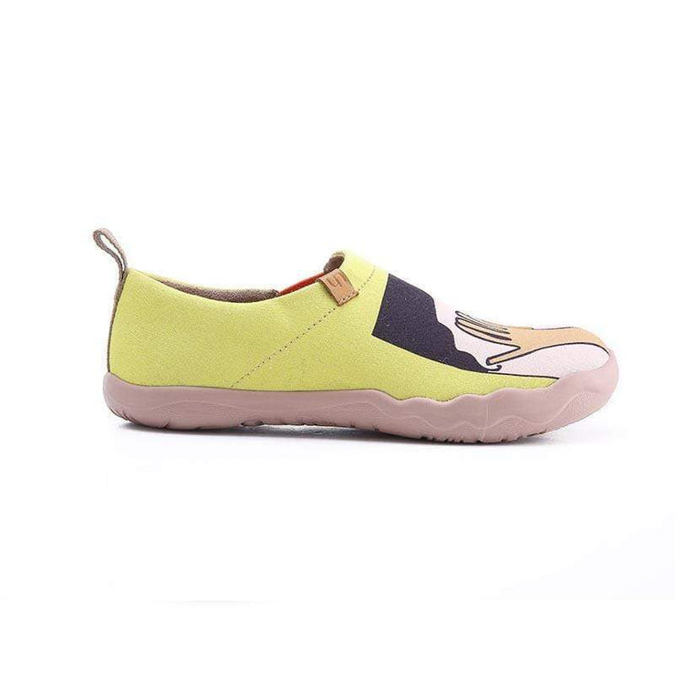UIN Footwear Women Kiss Canvas loafers