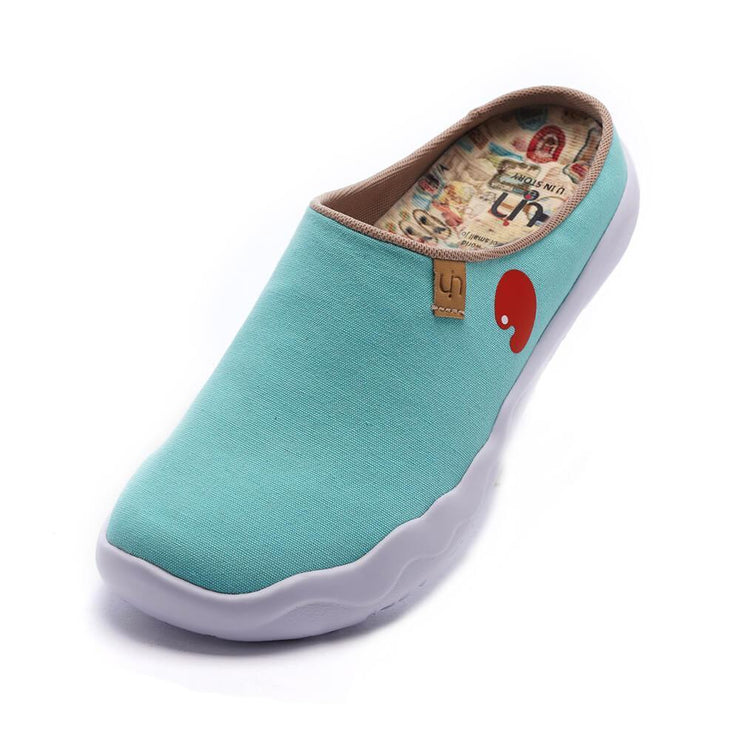UIN Footwear Women Marbella Blue Slipper Canvas loafers
