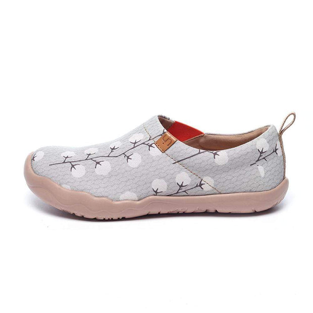 UIN Footwear Women -Nude Cotton- Female Grey Canvas Slip-ons Canvas loafers