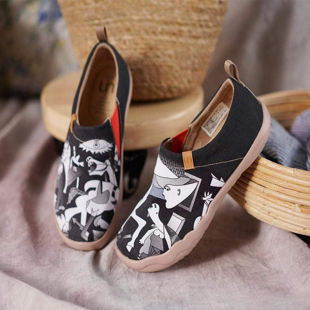 UIN Footwear Women -Picasso's Guernica- Abstract Women Flats Canvas Shoes Canvas loafers