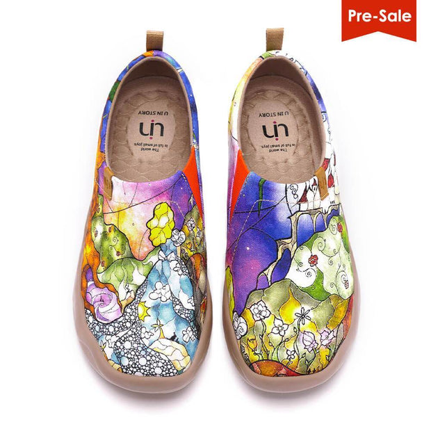UIN Footwear Women Princess's Garden Canvas loafers