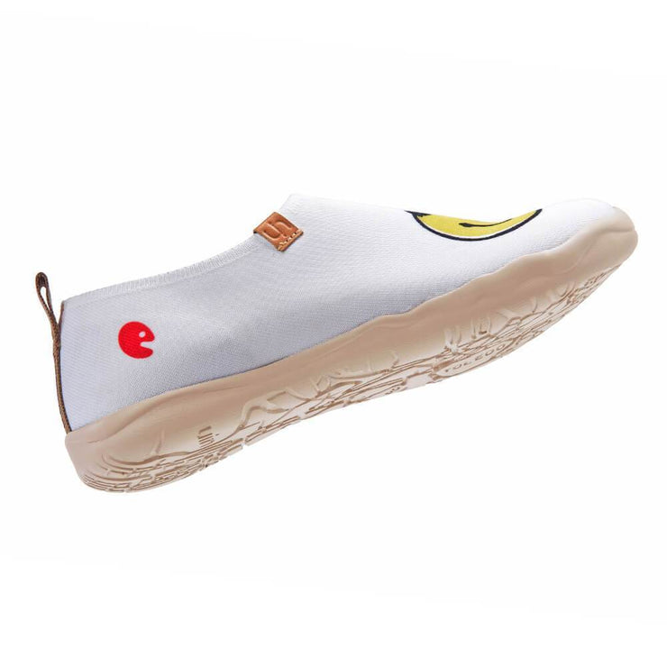 UIN Footwear Women Smiley Knitted Canvas loafers