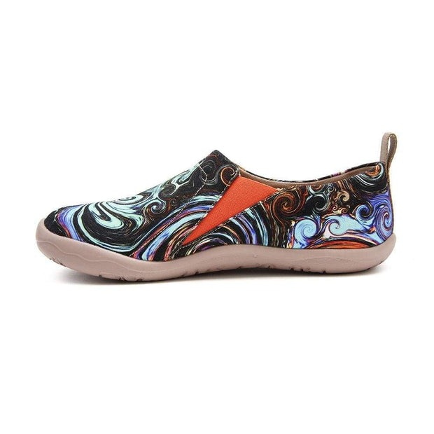 UIN Footwear Women -Starry Night- Art Paint Women Canvas Shoes Canvas loafers