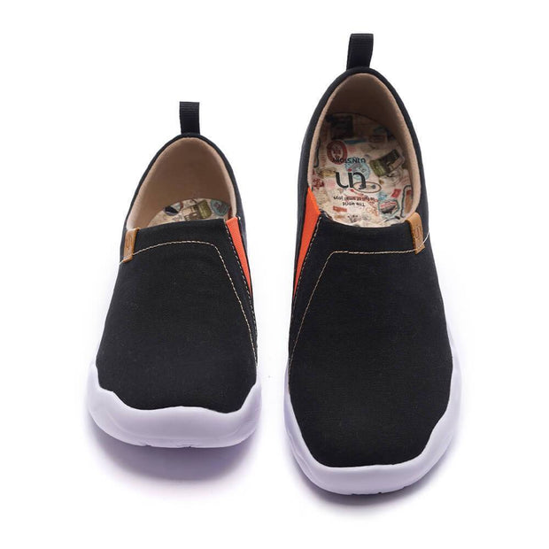 UIN Footwear Women Toledo Black Canvas loafers