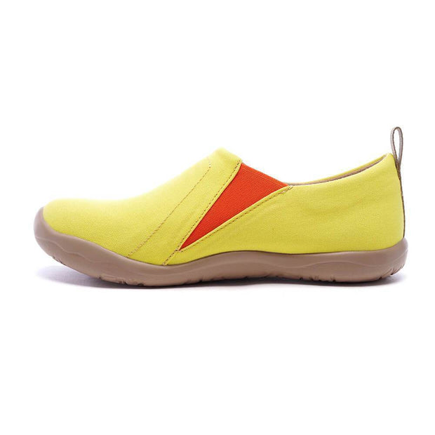 UIN Footwear Women Toledo Lemon Yellow Canvas loafers