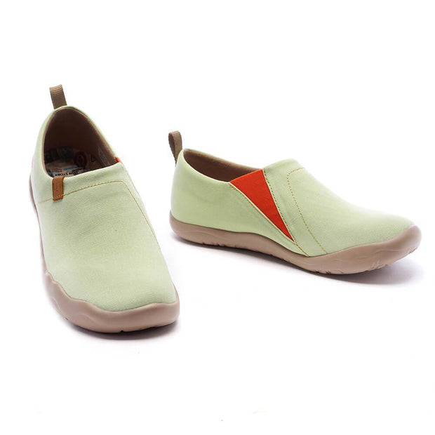 UIN Footwear Women Toledo Light Green Canvas loafers