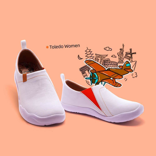 UIN Footwear Women Toledo White Canvas loafers