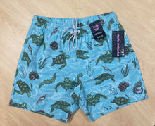Load image into Gallery viewer, Psycho Tuna Swim Shorts - Sea Turtles