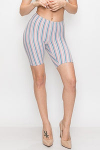 Bear Dance Stripe Biker Shorts