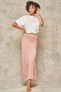 Promesa Orange/Grey  Maxi  Skirt
