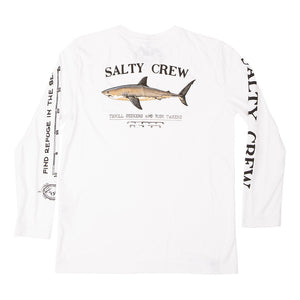 Salty Crew Bruce L/S Tech Tee-White