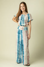 Load image into Gallery viewer, Ocean Drive Cotton Candy Stripe Tie Dye Printed Wide Leg Pant