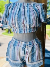 Load image into Gallery viewer, Ocean Drive Multi Stripe Border Print Smocked Short