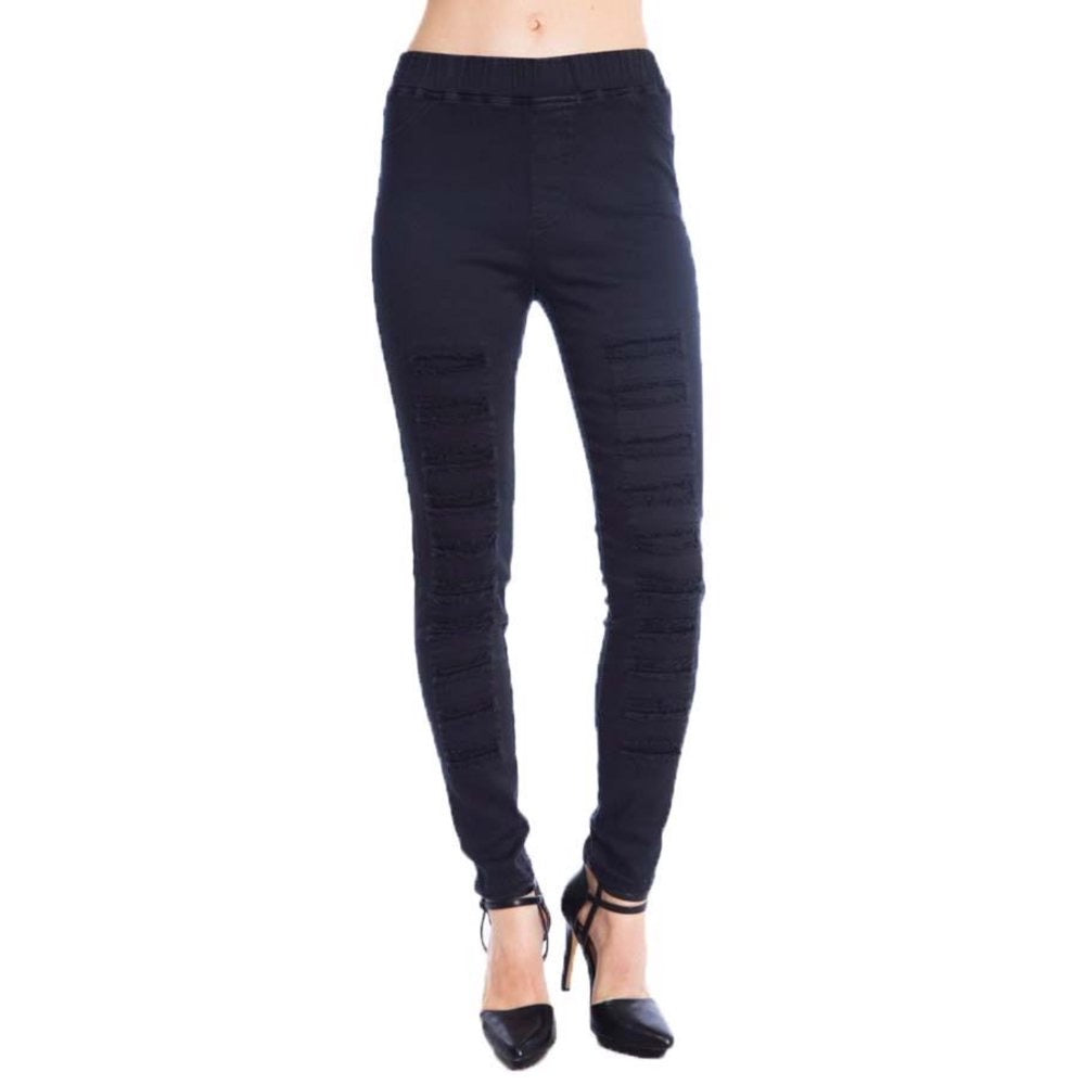 Umgee distressed blk jeggings/leggings