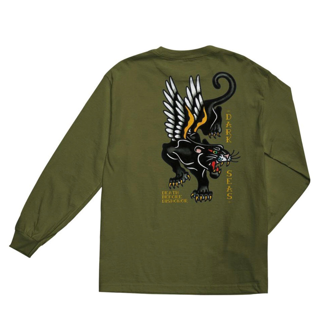 Dark Seas Pounce long sleeve tee