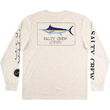 Load image into Gallery viewer, Salty Crew Marlin Mount UV L/S Tech Tee-White