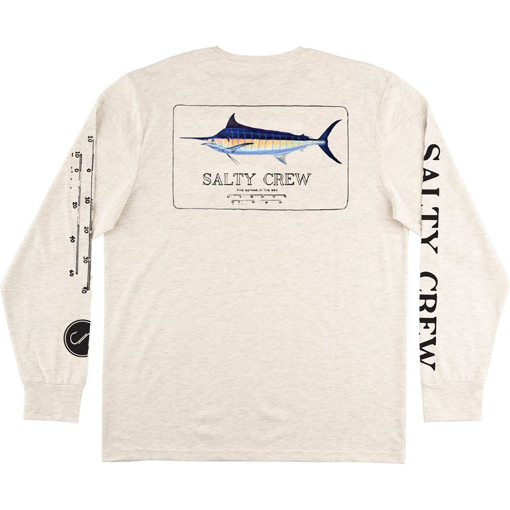 Salty Crew Marlin Mount UV L/S Tech Tee-White