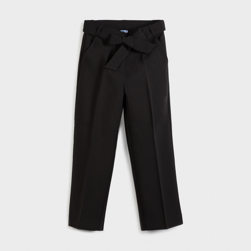 Pantalone cropped morbido nero