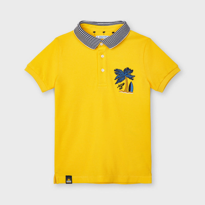 Polo Yellow ricamato