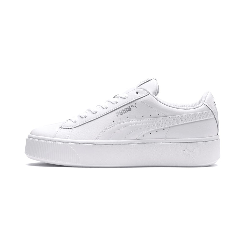 Puma Vikky Stacked L White