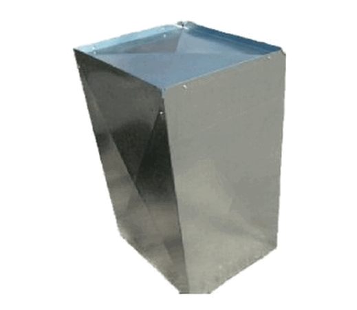 19-5/8 inch x 24-5/8 inch x 36 inch long Insulated Sheet Metal Return Air Plenum With 1/2 inch flange  - 198/8X245/8X36RF1/2