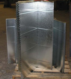 Insulated Galvanized Sheet Metal Plenum  - 16X20X48R8