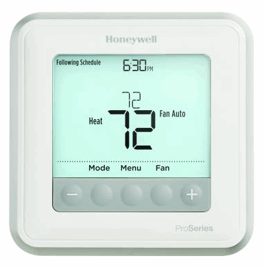 T6 Pro Programmable Thermostat with stages up to 2 Heat/1 Cool Heat Pumps or 2 Heat/2 Cool Conventional Systems  - TH6220U2000