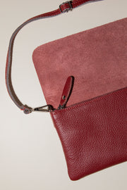 Cartera - piel Burdeos - By HANDEL