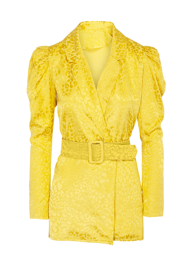 CHAQUETA TIGER ANIMAL PRINT AMARILLO - By HANDEL
