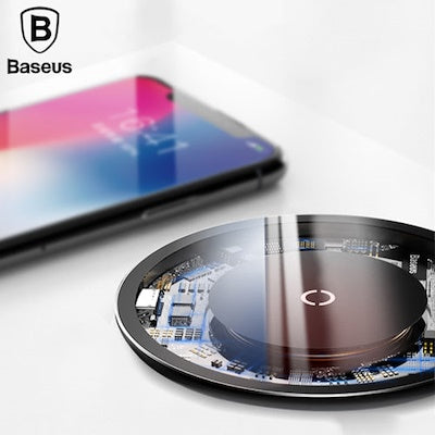 Baseus 10W Qi Wirelss Charger for iPhone X/8 Visible Fast Wireless Charging for Samsung Galaxy S9/S9
