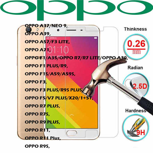 OPPO Transparent Tempered Glass